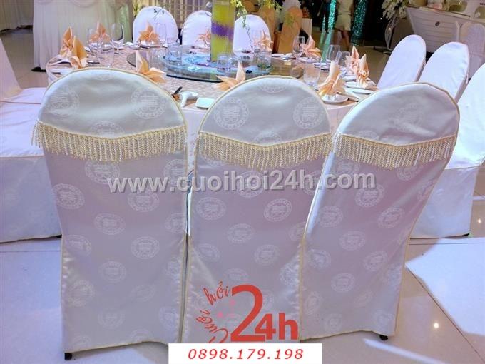 Dịch vụ cưới hỏi 24h trọn vẹn ngày vui chuyên trang trí nhà đám cưới hỏi và nhà hàng tiệc cưới | Bàn ghế màu tím nhạt cao cấp, sang trọng cho tiệc cưới ở nhà hàng