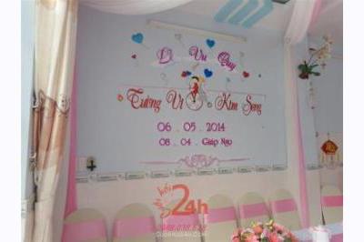 Dịch vụ cưới hỏi 24h trọn vẹn ngày vui chuyên trang trí nhà đám cưới hỏi và nhà hàng tiệc cưới | Cắt dán chữ xốp ngày đám cưới hỏi (07)