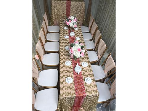 Dịch vụ cưới hỏi 24h trọn vẹn ngày vui chuyên trang trí nhà đám cưới hỏi và nhà hàng tiệc cưới | Uê ghế dựa tiffany