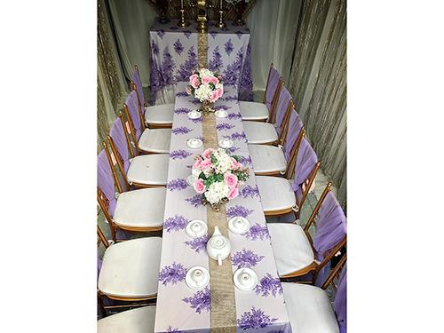 Dịch vụ cưới hỏi 24h trọn vẹn ngày vui chuyên trang trí nhà đám cưới hỏi và nhà hàng tiệc cưới | Uê ghế trang trí tông màu tím