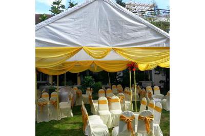 Dịch vụ cưới hỏi 24h trọn vẹn ngày vui chuyên trang trí nhà đám cưới hỏi và nhà hàng tiệc cưới | Cho thuê nhà bạt, khung rạp gam trắng phối vàng