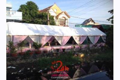 Dịch vụ cưới hỏi 24h trọn vẹn ngày vui chuyên trang trí nhà đám cưới hỏi và nhà hàng tiệc cưới | Cho thuê rạp cưới voan hàng rào tông trắng hồng nhẹ nhàng (3)
