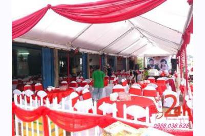 Dịch vụ cưới hỏi 24h trọn vẹn ngày vui chuyên trang trí nhà đám cưới hỏi và nhà hàng tiệc cưới | Cho thuê bàn ghế đãi tiệc cưới tại nhà màu trắng đỏ
