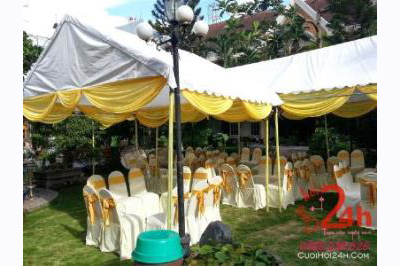 Dịch vụ cưới hỏi 24h trọn vẹn ngày vui chuyên trang trí nhà đám cưới hỏi và nhà hàng tiệc cưới | Cho thuê bàn ghế dựa đãi tiệc cưới sân vườn