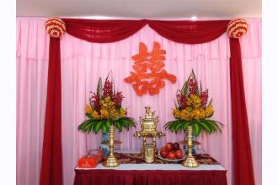 Dịch vụ cưới hỏi 24h trọn vẹn ngày vui chuyên trang trí nhà đám cưới hỏi và nhà hàng tiệc cưới | Trang trí bàn thờ hiện đại với hoa lan