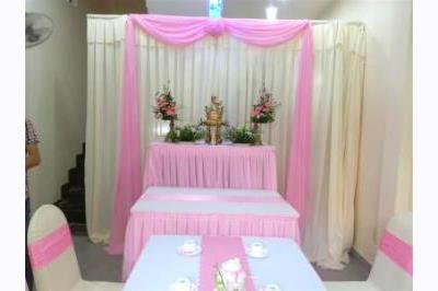 Dịch vụ cưới hỏi 24h trọn vẹn ngày vui chuyên trang trí nhà đám cưới hỏi và nhà hàng tiệc cưới | Trang trí bàn thờ