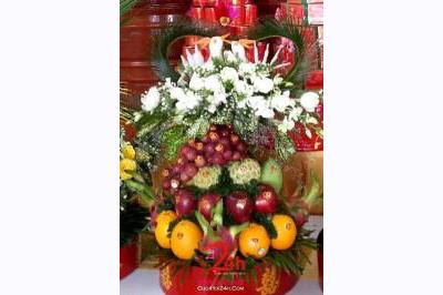Dịch vụ cưới hỏi 24h trọn vẹn ngày vui chuyên trang trí nhà đám cưới hỏi và nhà hàng tiệc cưới | Tráp trái cây tươi ngon và đẹp
