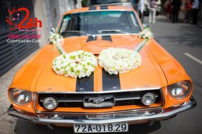Dịch vụ cưới hỏi 24h trọn vẹn ngày vui chuyên trang trí nhà đám cưới hỏi và nhà hàng tiệc cưới | Dịch vụ cho thuê xe cưới tông màu cam rực rỡ (1)