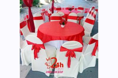 Dịch vụ cưới hỏi 24h trọn vẹn ngày vui chuyên trang trí nhà đám cưới hỏi và nhà hàng tiệc cưới | Cho thuê ghế dựa cao cấp ngày cưới tông trắng đỏ
