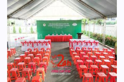Dịch vụ cưới hỏi 24h trọn vẹn ngày vui chuyên trang trí nhà đám cưới hỏi và nhà hàng tiệc cưới | Cho thuê ghế nhựa đỏ sự kiện