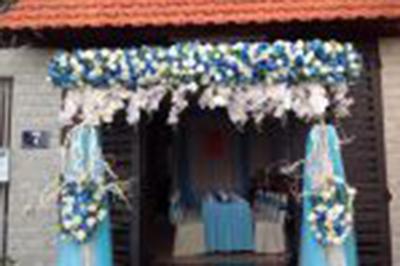 Dịch vụ cưới hỏi 24h trọn vẹn ngày vui chuyên trang trí nhà đám cưới hỏi và nhà hàng tiệc cưới | Cung cấp dịch vụ kết cổng cưới hoa vải trọn gói (1)