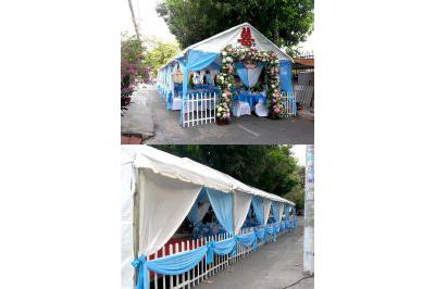 Dịch vụ cưới hỏi 24h trọn vẹn ngày vui chuyên trang trí nhà đám cưới hỏi và nhà hàng tiệc cưới | Nhà bạt, khung rạp cưới hỏi (1)
