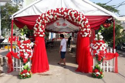 Dịch vụ cưới hỏi 24h trọn vẹn ngày vui chuyên trang trí nhà đám cưới hỏi và nhà hàng tiệc cưới | Nhà bạt, khung rạp cưới hỏi (2)