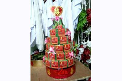 Dịch vụ cưới hỏi 24h trọn vẹn ngày vui chuyên trang trí nhà đám cưới hỏi và nhà hàng tiệc cưới | Tráp bánh sơn mài