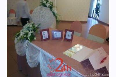 Dịch vụ cưới hỏi 24h trọn vẹn ngày vui chuyên trang trí nhà đám cưới hỏi và nhà hàng tiệc cưới | Trang trí bàn ký tên 23