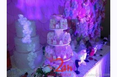 Dịch vụ cưới hỏi 24h trọn vẹn ngày vui chuyên trang trí nhà đám cưới hỏi và nhà hàng tiệc cưới | Trang trí bàn đón kh