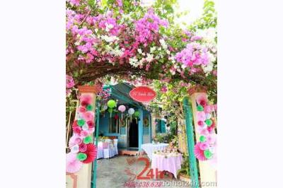 Dịch vụ cưới hỏi 24h trọn vẹn ngày vui chuyên trang trí nhà đám cưới hỏi và nhà hàng tiệc cưới | Cổng cưới hoa giấy đa sắc màu